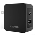 CHE-327-BK cheero 2port PD Charger USB-C PD 18W+USB-A