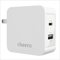 CHE-327-WH cheero 2port PD Charger USB-C PD 18W+USB-A