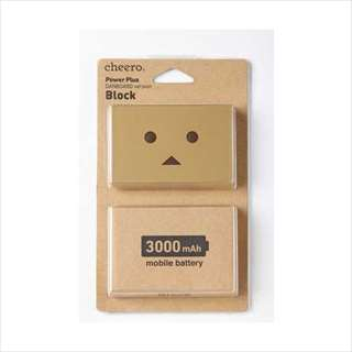 CHE-056 cheero Power Plus DANBOARD version -block- 3000mAh ☆3個まで¥300ネコポス対応可能!