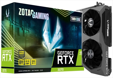 ZTRTX3070TWINEDGE-8GBGDR6/ZT-A30700E-10P ZOTAC GAMING GeForce RTX 3070 Twin Edge