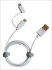 APL-WI071-WH Micro USB cable with lightning adapter 2-in-1 cable 1M.  White