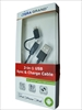 APL-WI071-BK Micro USB cable with lightning adapter 2-in-1 cable 1M.  Black