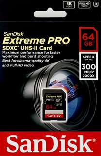 SDSDXPK-064G-GN4IN 海外輸入版 ExtremePro  ☆4個まで¥300ネコポス対応可能!