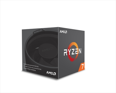 Ryzen 7 1700 with Wraith Spire 95W cooler (8-core 16-thread/3.0GHz/ターボブースト時 3.7GHz/L2 512kB x 8/L3 16MB/TDP65W)