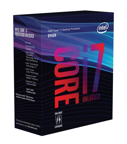 Core i7-8700K BOX (3.70GHz/ターボブースト時4.70GHz/6-core 12-thread/Total Cache 12MB/TDP95W/UHD Graphics 630)