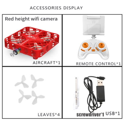 Mini-Drone M8HS RED レッド  角型安全ドローン