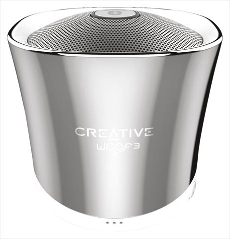 1's PCワンズで買える「Creative Woof 3 SP-WOOF3-CH ウィンタークローム 4WAYの音楽再生に対応したワイヤレススピーカー」の画像です。価格は1,499円になります。
