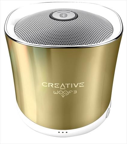 1's PCワンズで買える「Creative Woof 3 SP-WOOF3-GD オータムゴールド 4WAYの音楽再生に対応したワイヤレススピーカー」の画像です。価格は1,499円になります。