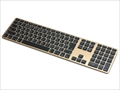 FK418BTG-JP Matias Wireless Aluminum Keyboard - Gold 日本語配列