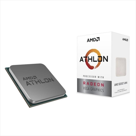 Athlon 200GE With Cooler (2-core 4-thread/3.2GHz/Total Cache  5MB/TDP35W/Radeon Vega3 Graphics)